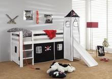 Łóżko dziecięce ORSO PIRAT czarne