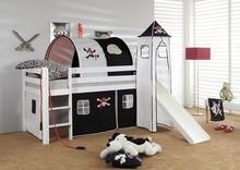 Łóżko dziecięce ORSO+TUNEL PIRAT czarne