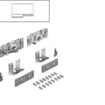 Zestaw wózków górnych TopLine L do drzwi tylnych lewych lub prawych o grubości od 16 do 40 mm. z nałożeniem pełnym(pokrywających się po...