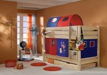 Łóżko dziecięce TIGRE NATURALNE + zasłonki+tunel