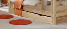 Komplet dwóch szufladprzeznaczonych do łóżka Tigre lub Cammello.  Kluczowe cechy: 100% naturalnedrewno sosnowezabezpieczone...