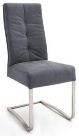 Krzesło na płozie SALVA - antik szary