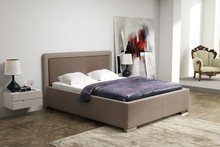 Eleganckie łóżko WEEKEND z tapicerowanymi elementami wezgłowia, wygodne, wykonane z największą precyzją doskonale wypełni przestrzeń w Państwa...