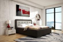 Eleganckie łóżko WEEKEND 2 z tapicerowanymi elementami wezgłowia, wygodne, wykonane z największą precyzją doskonale wypełni przestrzeń w Państwa...