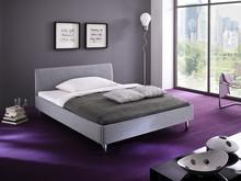 Produkt bez prawa zwrotu.Nowoczesna stylistyka i wygoda to łóżko JUMP. Tapicerowane łóżko z tkaniny wysokiej jakości w kolorze szarym. Solidna rama z...