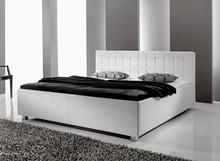 Ekskluzywne łóżko SMILE 3 - wysoka jakość i precyzja wykonania. Obite ekoskórą, zdobione kryształkami, wezgłowie obszyte taśmą ozdobną. ...