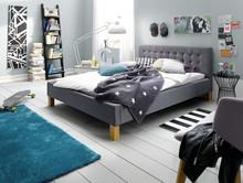 Ekskluzywne tapicerowane łóżko OKEY jest zarazem nowoczesne oraz przytulne. Obicie zostało wykonane z wysokogatunkowej tkaniny. Łóżko OKEY jest wysokim...