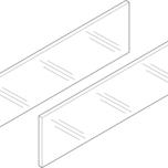 LEGRABOX Free szklany element dekoracyjny do boku 45cm   ZE7S338G Typ: Element dekoracyjny - bok System szuflad: LEGRABOX free Długość...