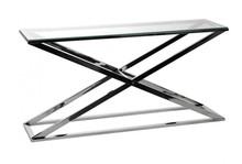 Konsola niklowana, criss cross, loft 41454