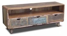 Wymiary: Szerokość: 140 cm Wysokość: 55 cm Głębokość: 40 cm Materiał: Drewno: Drewno z odzysku