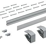 SlideLine M, Profil do płyty 18 o długości 4000 mm w kolorze srebrnym.  Zestaw pojedynczego profilu do zastosowania, jako uzupełnienie w rozwiązaniach...