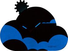 """Zegar 3207 """"Cloudy"""" zaprojektowany przez NeXtime, wyposażony jest w mechanizm płynący zasilany za pomocą baterii typu AA. Zegar wykonany z..."""