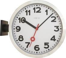 """Zegar 3217 """"Station Double"""" zaprojektowany przez NeXtime, wyposażony jest w mechanizm płynący zasilany za pomocą baterii typu AA. Zegar wykonany..."""