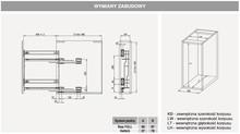 Kosze cargo Variant MULTI Cargo MINI Boczne 15 LEWE Efekt CHROM Miękki Domyk - Rejs