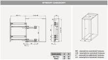 Kosze cargo Variant MULTI Cargo MINI Boczne 20 LEWE Efekt CHROM Hamulec - Rejs