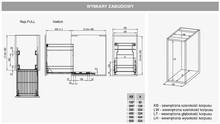 Kosze cargo Variant MULTI Cargo 2-Poziomowe 60 DOLNE BIAŁE Hamulec Rej - Rejs