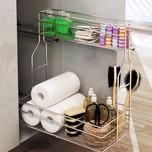 CARGO MINI boczne prawe bez mocowania frontu na artykuły kosmetyczne i detergenty 2-poziomowe do szafki szerokości 30cm. Kolor lakier efekt chrom Prowadnice...