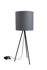 Nowoczesna lampa o ponadczasowej formie w kolorze szarym.  Czarna podstawa.  Lampa może być używana jako stołowa lub podłogowa. ...