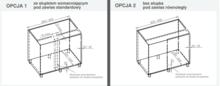 CORNER OPTIMA 2 Półki Do Szafki Narożnej  900x500 Lewe NERKA - Rejs