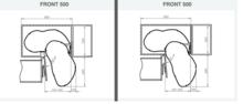 CORNER OPTIMA 2 Półki Do Szafki Narożnej  900x500 Prawe NERKA - Rejs
