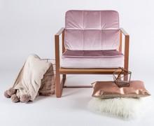 Fotel NAKATO - z drewnem bukowym