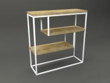 Konsola ERATO  Forma konsoli łączy w sobie minimalistyczny styl skandynawski z surowością industrialnych wnętrz. Blat drewniany z widocznymi słojami,...