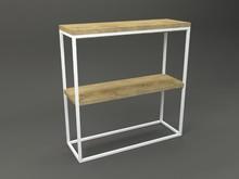Konsola HERA  Forma konsoli łączy w sobie minimalistyczny styl skandynawski z surowością industrialnych wnętrz. Blat drewniany z widocznymi słojami,...