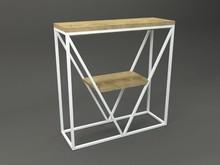 Konsola KALYPSO  Forma konsoli łączy w sobie minimalistyczny styl skandynawski z surowością industrialnych wnętrz. Blat drewniany z widocznymi...