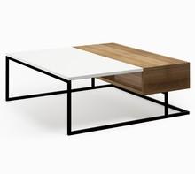 LINIA CONNECT STEEL Stolik kawowy Zestaw nowoczesnych, minimalistycznych mebli do pokoju dziennego idealnie komponujący się w małych pomieszczeniach....