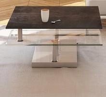 Stolik kawowy Square wysuwane półki, płyta ceramiczna