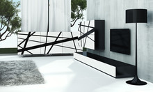 LINIA 7 STRIPE  Zestaw nowoczesnych mebli zaprojektowanych do dużych i przestronnych pomieszczeń.  Główne cechy:  - nowoczesny design - wysoka...