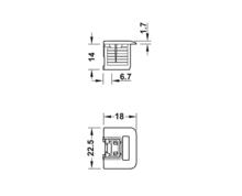 Złączka Rafix TAB 20 S Tworzywo Sztuczne Białe Do Płyty 19 mm. - Häfele
