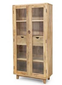 Witryna  drewniana , witryna drewniana w stylu skandynawskim