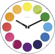 Zegar 3166 Dots Dome zaprojektowany przez NeXtime, wyposażony jest w mechanizm płynący zasilany za pomocą baterii typu AA. Zegar wykonany ze szkła w w...