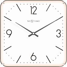Zegar 3174 Basic Square Dome zaprojektowany przez NeXtime, wyposażony jest w mechanizm płynący zasilany za pomocą baterii typu AA. Zegar wykonany ze...