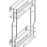 CARGO MINI boczne prawe, 2-poziomowe do szafki szerokości 20cm. otwierane na dotyk PUSH-OPEN Kolor - lakier biały System Jezdny Rejs z otwieraniem dotykowym...