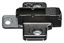 Prowadnikprosty 175H9160 do montażu zawiasów CLIP top w kolorze czarnego onyksu. Wysokość 6mm, regulacja mimośrodowa.  Dane techniczne: prowadnik...