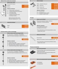 CABLOXX  Zestaw zaczepu Z80.000S Jasnoszary Blum - Blum