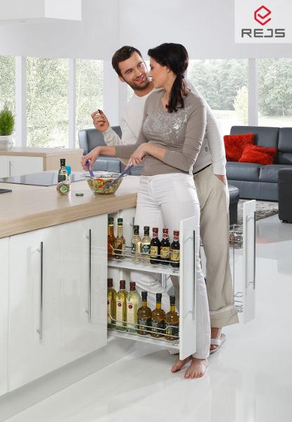 variant multi cargo 2 poziomowe 50 dolne efekt chrom push. Black Bedroom Furniture Sets. Home Design Ideas