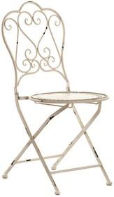 Krzesło rozkładane. Meble ogrodowe posiadają przetarcia, rysy i zadrapania, dające efekt naturalnej starości.  Szerokość: 42.0 cm Głębokość: 48.0...