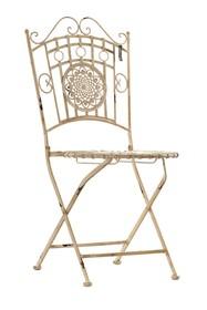 Krzesło rozkładane. Meble ogrodowe posiadają przetarcia, rysy i zadrapania, dające efekt naturalnej starości.  Szerokość: 44.0 cm Głębokość: 48.5...