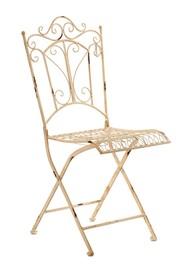 Krzesło rozkładane. Meble ogrodowe posiadają przetarcia, rysy i zadrapania, dające efekt naturalnej starości.  Szerokość: 45.0 cm Głębokość: 47.0...