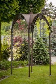 Meble ogrodowe posiadają przetarcia, rysy i zadrapania, dające efekt naturalnej starości.  Szerokość: 110.0 cm Głębokość: 110.0 cm Wysokość:...