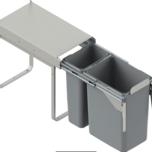 Kosz na śmieci podwójny JC603 do szafki 30 z mocowaniem frontuz prowadnicami kulkowymi pełnego wysuwu.  Idealne zastosowanie do kuchni w dowolnym...