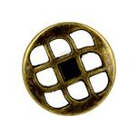 Gałka z serii Treccia, uniwersalna w zastosowaniu (biuro, pokój, łazienka, kuchnia), pokrycie galwaniczne - stare złoto.  Pasuje do niej uchwyt...