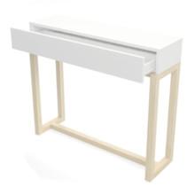 Konsola z szufladą w skandynawskim minimalistycznym stylu