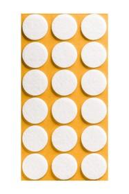Podkładki meblowe Koło fi 25 mmfilc kolor Biały  Podkładki sprzedawane w arkuszach. Ilość podkładek na arkuszu- 18 szt.