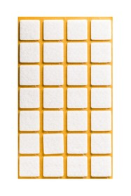 Podkładki meblowe Kwadrat 20x20 mmfilc kolor Czarny  Podkładki sprzedawane w arkuszach. Ilość podkładek na arkuszu- 28 szt.  Właściwy kolor...