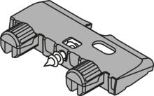 Kątownik Podpierający Dno Do TIP-ON BLUMOTION Od Szer.750mm - Blum