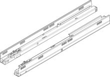 Prowadnice ANTARO Do TIP-ON z BLUMOTION 100% Wysuw 30kg dł=50cm - Blum